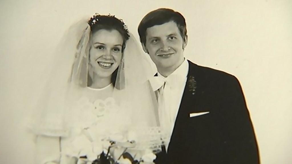 Regina and Eckhard Albrecht on their wedding day.