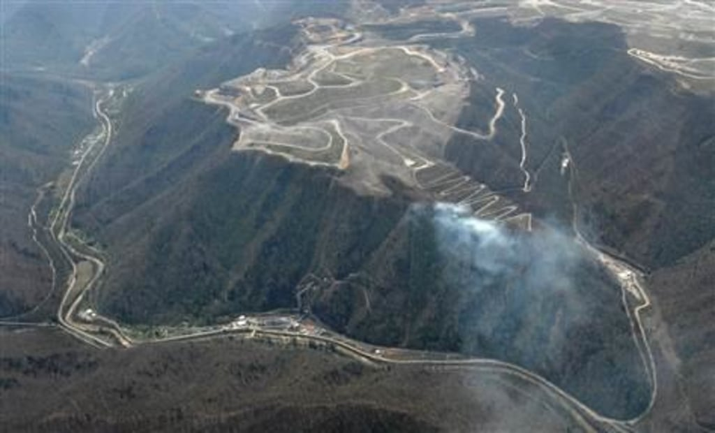 IMMAGE: The Massey Energy complex near Montcoal, West Virginia, after the April 5, 2010, explosion.