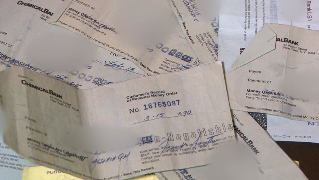 Image: Withdrawal Slips Provided by Frank Scotti