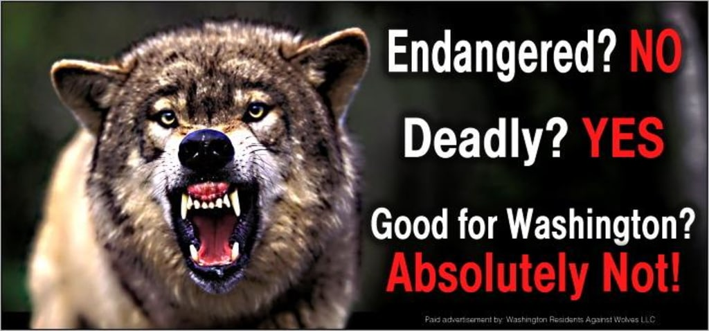 Image: Anti-wolf billboard in Washington state