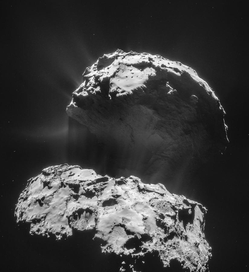 Image: Rosetta comet view