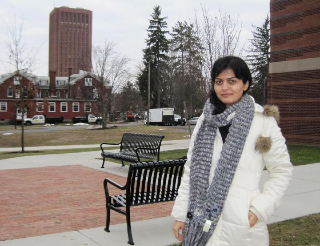 Image: Zahra Khalkhali, an Iranian national and a doctoral student at the University of Massachusetts