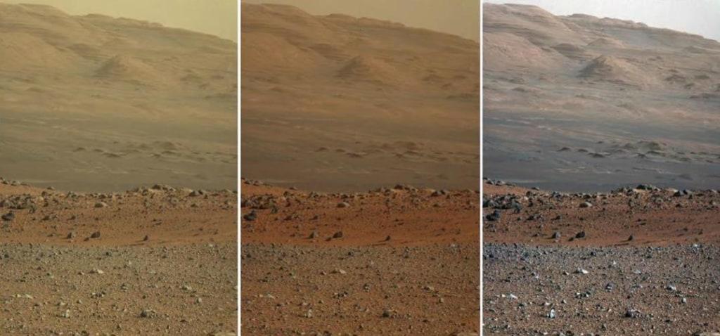 Image: Three views of Mars