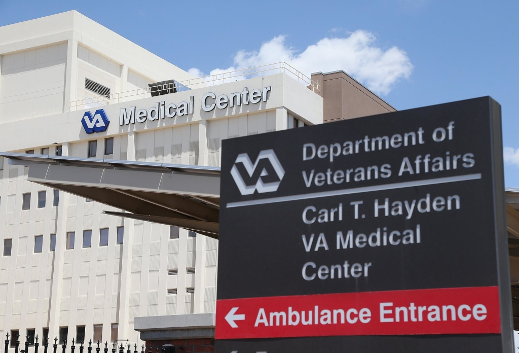 """Image: FILE:  Delays """"Systemic"""" In Phoenix VA Hospital Veteran Affairs Clinics To Be Audited After Patient Deaths At Phoenix Hospital"""
