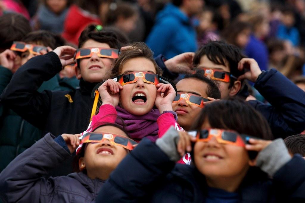 Image: Partial Solar Eclipse Over Spain