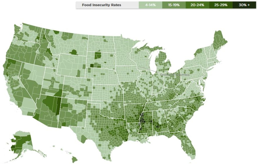 Food insecurity map