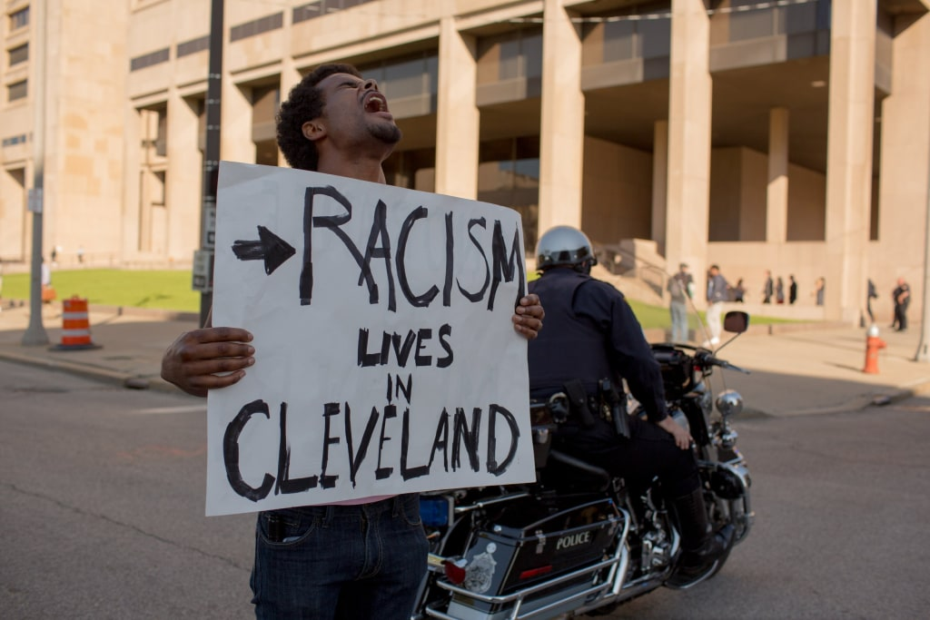 Image: Protests Break Out After Cleveland Police Officer's Acquittal