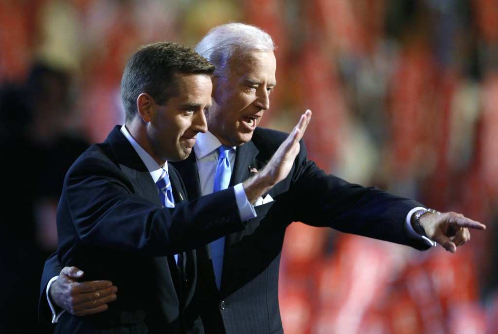Image: Beau Biden with his father Vice President Joe Biden