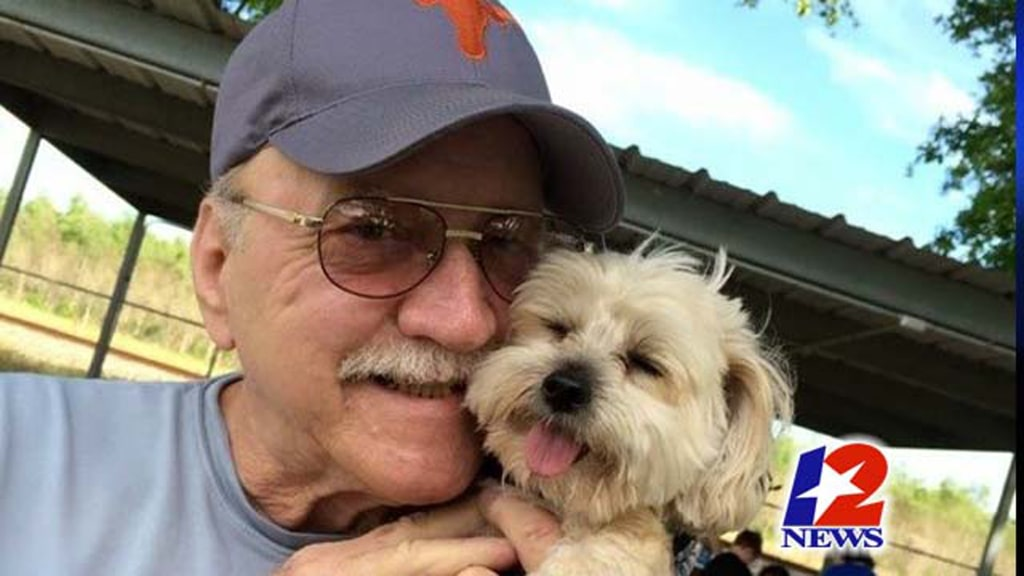 Image: a man died in his car with his dog