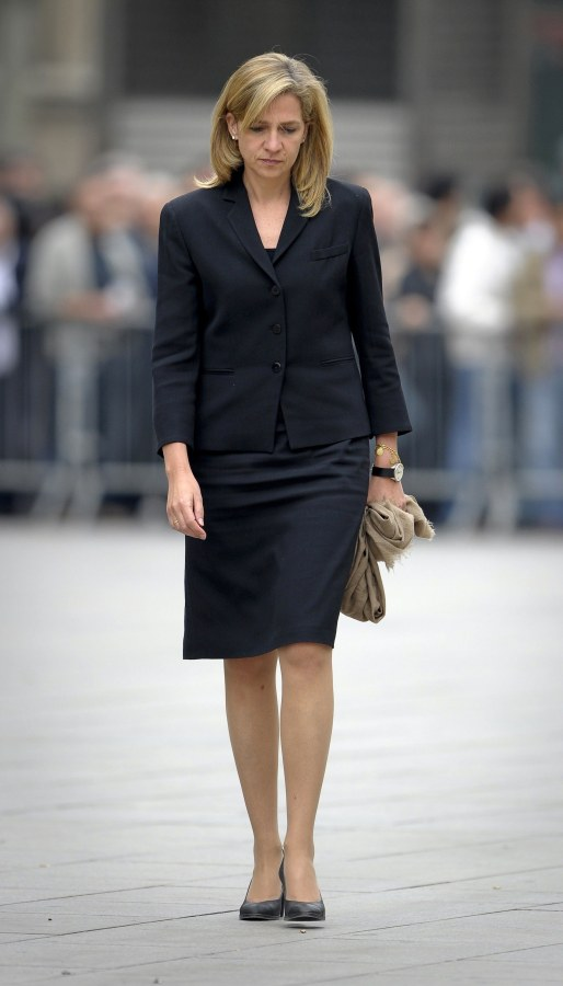 Image: Spain's Princess Cristina, pictured here attending a funeral in 2010.