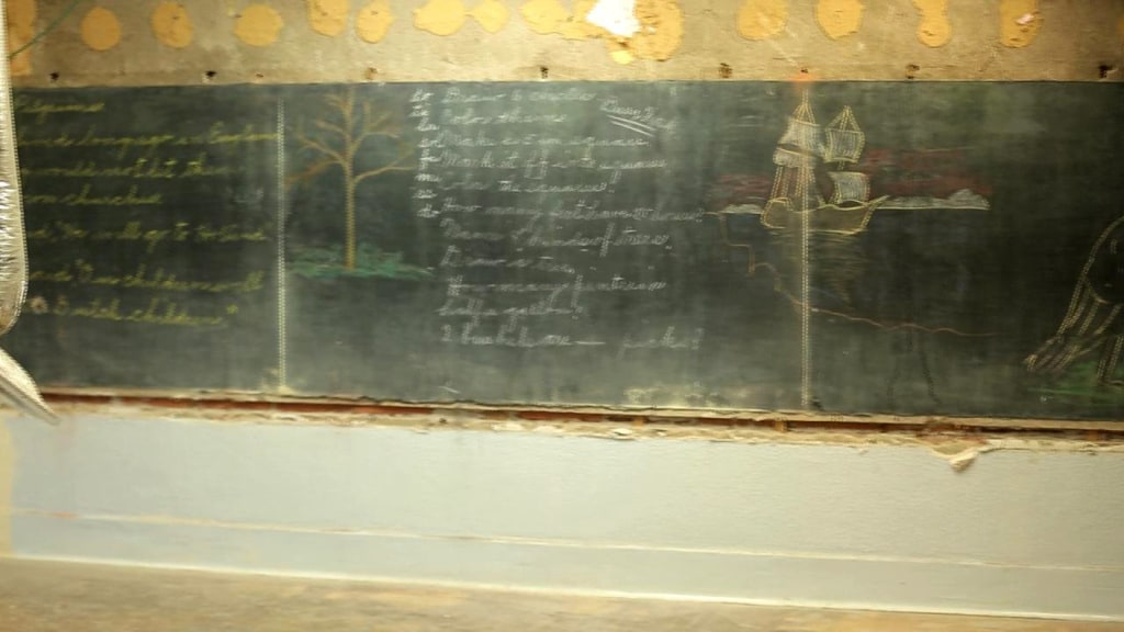 Image:  chalkboards untouched since 1917