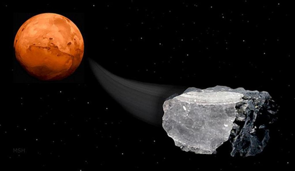 Image: Meteorite from Mars