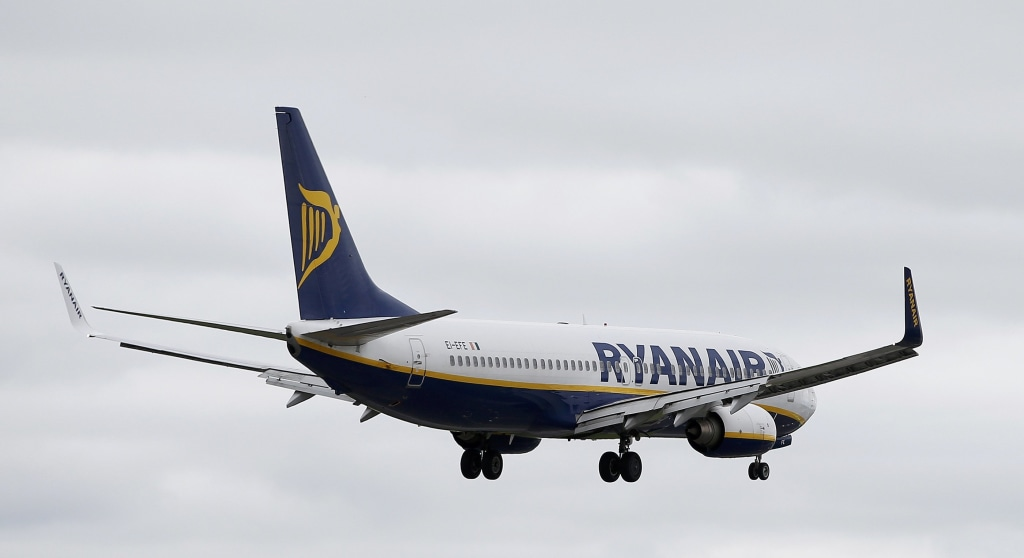 Image: File photo of a Ryanair jet