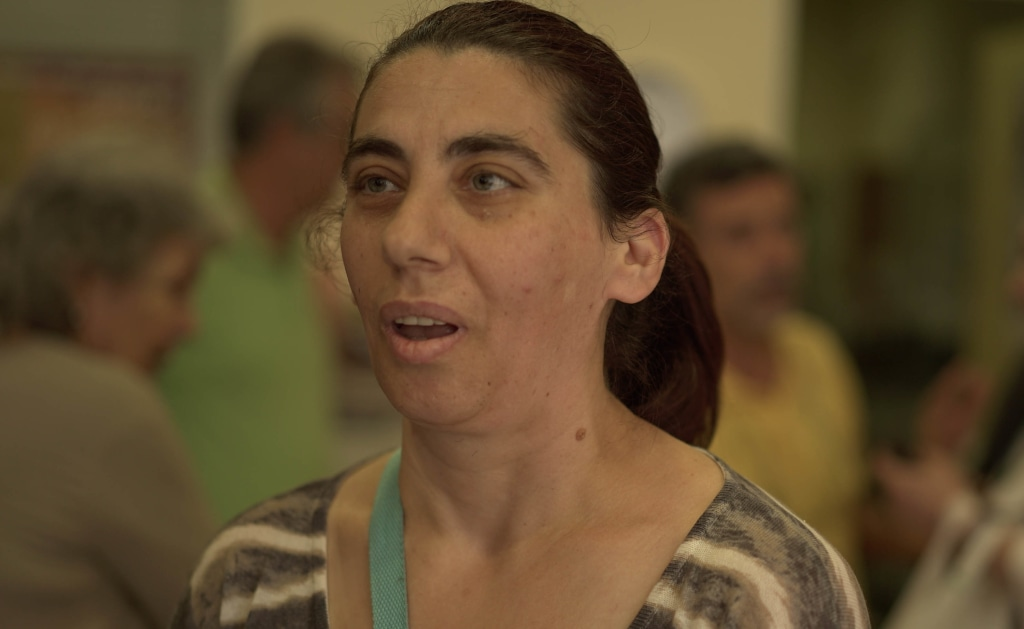 Image: Fotini Hapsa, an unemployed single mother, believes Greece should stay in the Euro currency zone.