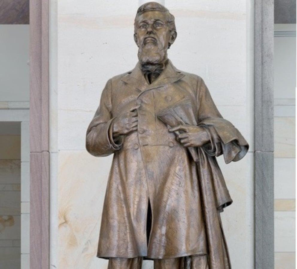 IMAGE: Statue of James Zacariah George