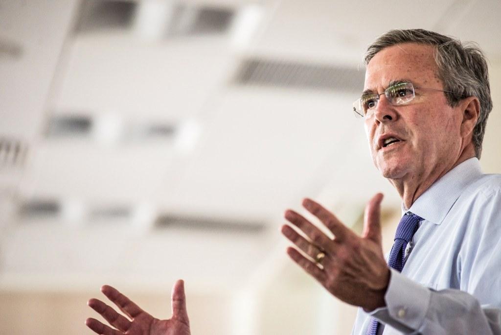 Image: Jeb Bush Tours Pharmaceutical Company In South Carolina