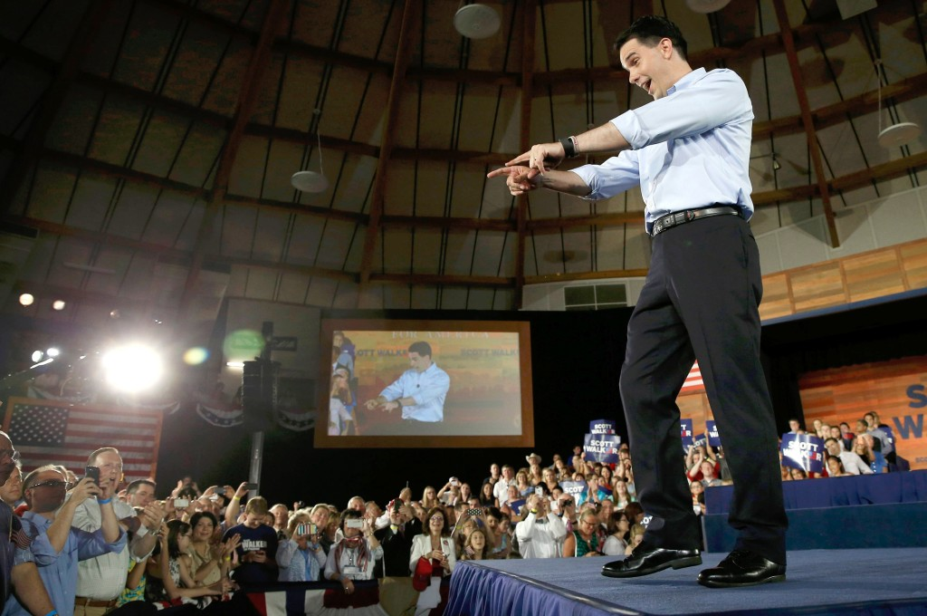 Image: Scott Walker on July 13