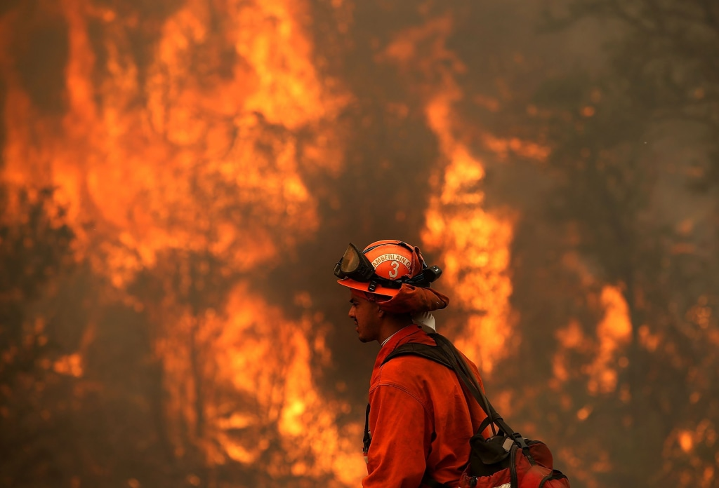Image: Burn operation near Clearlake, California