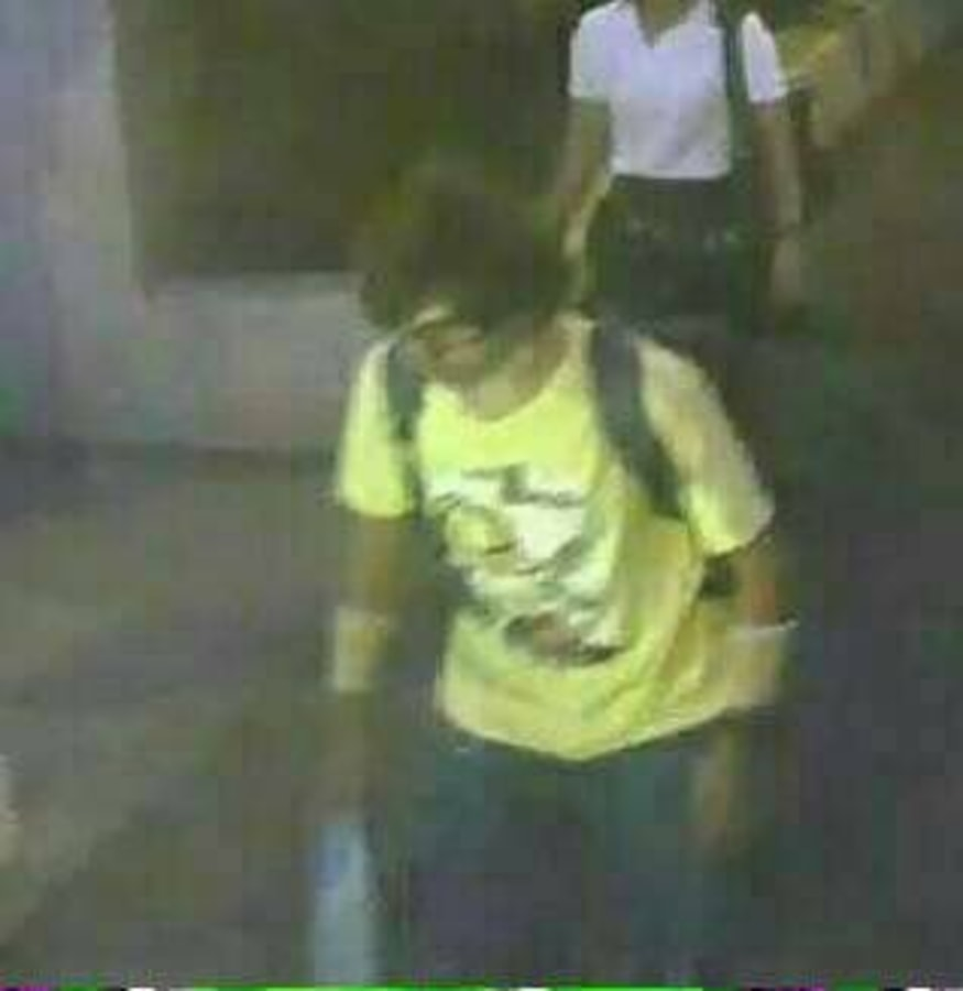 Image: Thai authorities said on Tuesday they were looking for this suspect seen near the popular shrine where a bomb killed 22