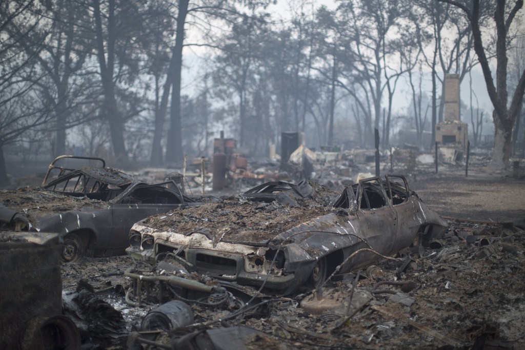 Image: Fast-Moving Wildfire Brings Destruction To Lake County, CA