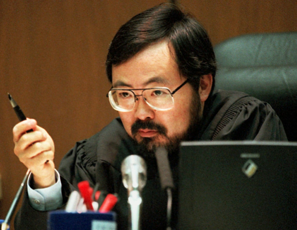 Image: Superior Court Judge Lance Ito addresses the court Sept. 1, 1995, during the O.J. Simpson double-murder trial in L.A.