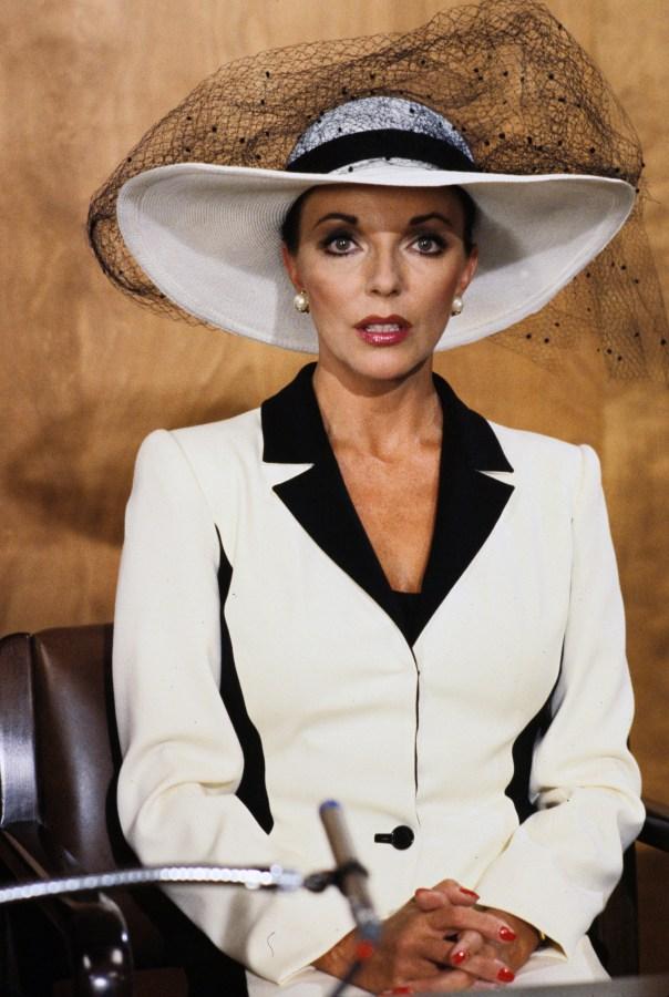 "Joan Collins as Alexis Carrington in ABC's ""Dynasty"" circa 1981."