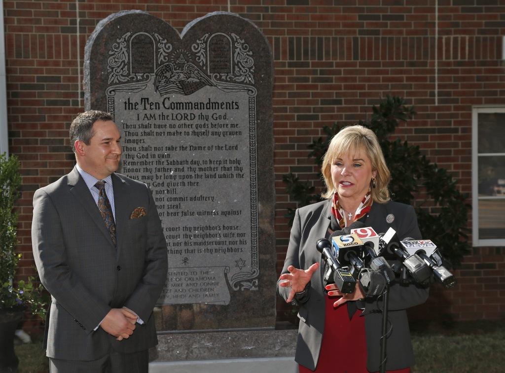 Image: Oklahoma Gov. Mary Fallin and conservative activist Michael Carnuccio