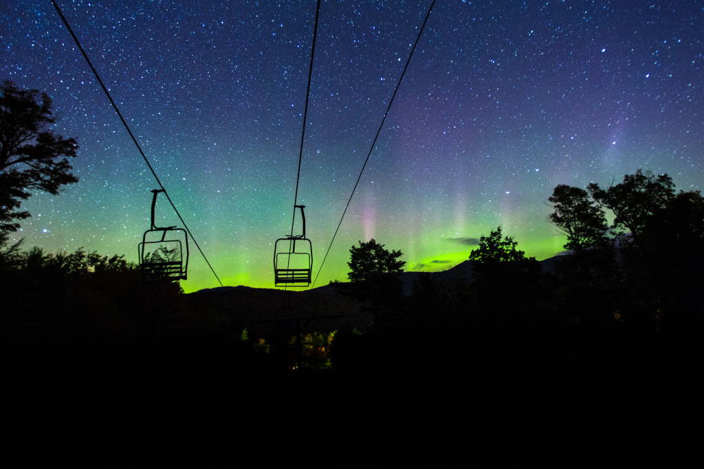 Image: Aurora Borealis over Sugarloaf Mountain