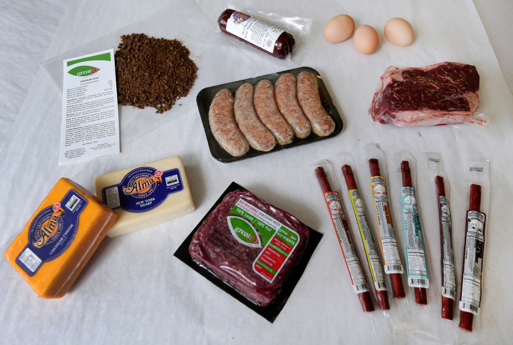 Image: Variety of products with omega-3 fatty acids is shown at GreatO Premium Foods' facility