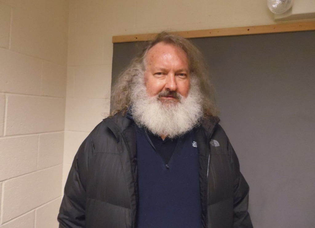 Image: Randy Quaid, pictured Friday night at Vermont State Police barracks.