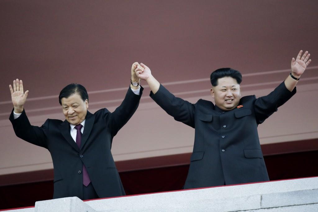 Image: Kim Jong Un, Liu Yunshan