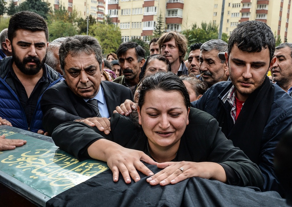 Image: BESTPIX Funerals Are Held For The Victims Of The Ankara Bomb Blasts
