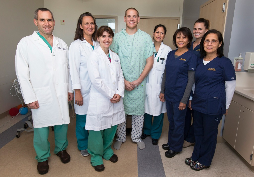 Image: Airman Spencer Stone with his care team.