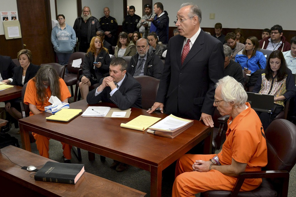 Image: Deborah Leonard and Bruce Leonard sit next to their attorneys in court for a manslaughter charge against them in the death of their 19-year-old son Lucas Leonard, in New Hartford