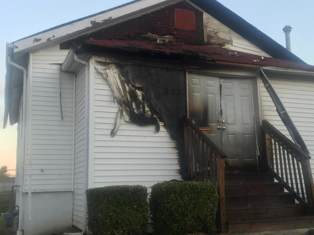 Image: The damage from a church fire on Plover Ave. in St. Louis, Missouri.