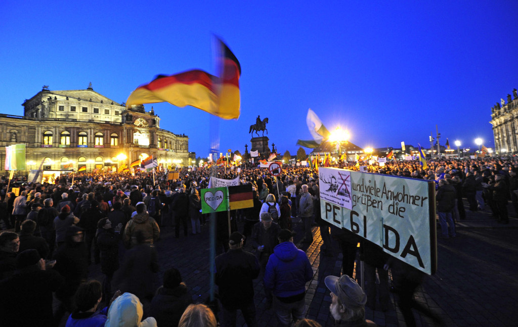 Image: PEGIDA rally in Dresden, Germany