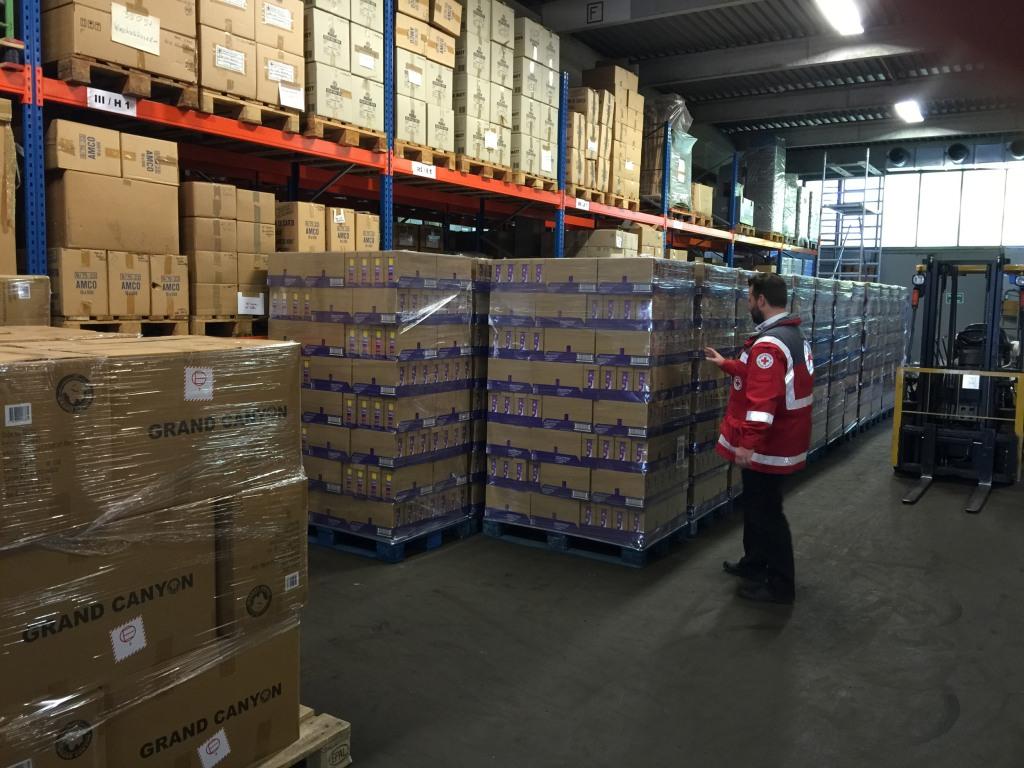 Image:  Red Cross Logistics Center Germany