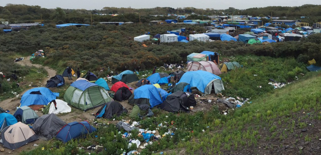 Image: The Jungle migrant camp in northern France