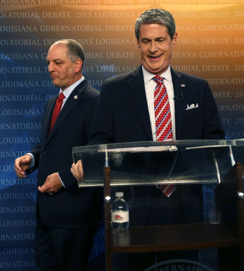 Image: John Bel Edwards, David Vitter