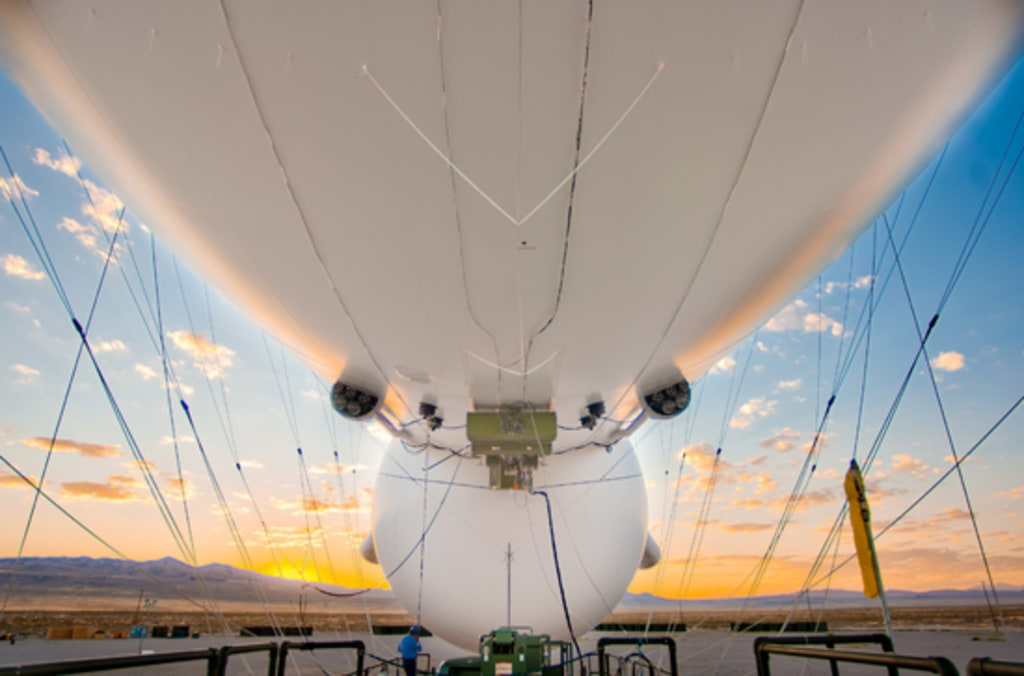 IMAGE: JLENS tethered aircraft