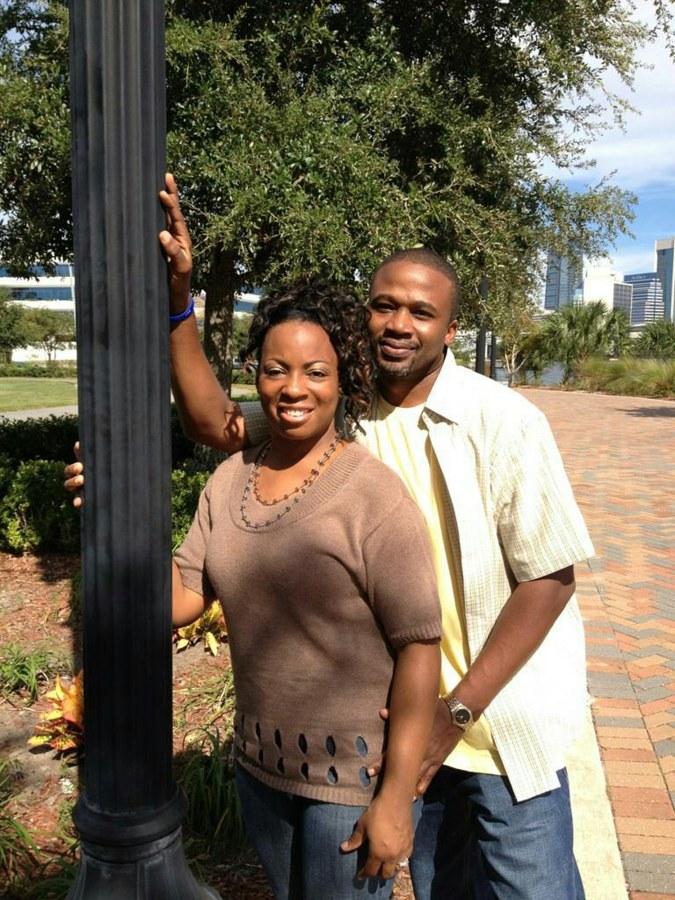 Image: Anthony Shawn Thomas with his wife Tinisha Thomas