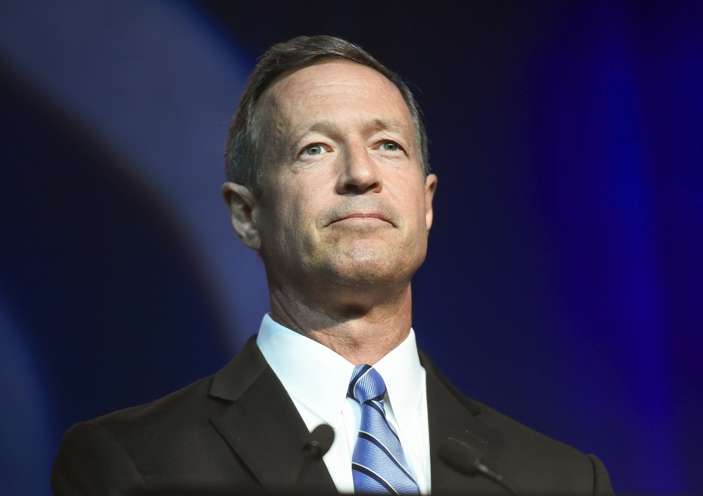 Image: Martin O'Malley addresses the DNC Summer Meeting in Minneapolis