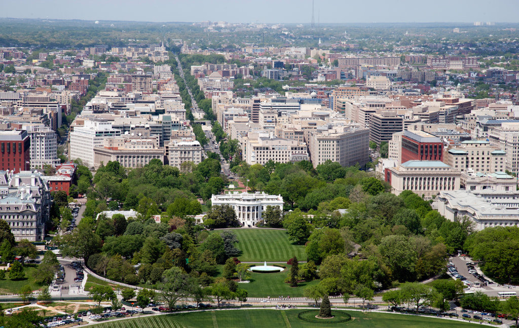 Image: Aerial view of the White House