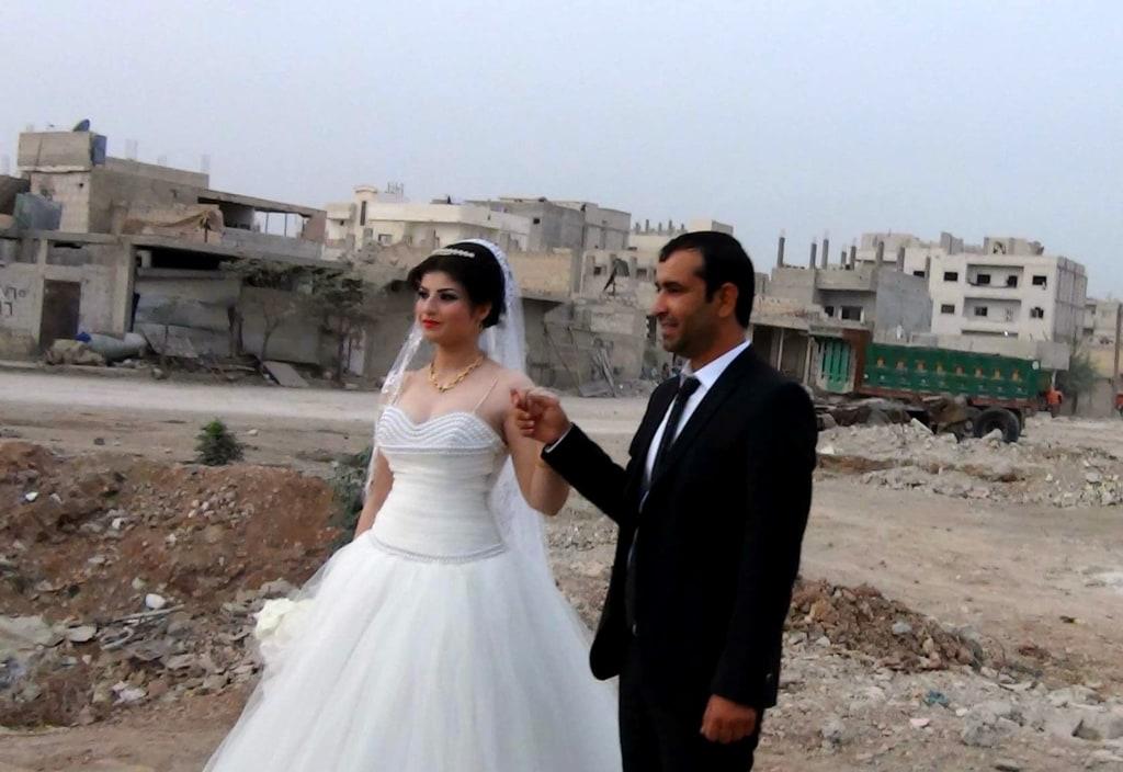 Image: Radwan Bizar and Fian Ayub on their wedding day