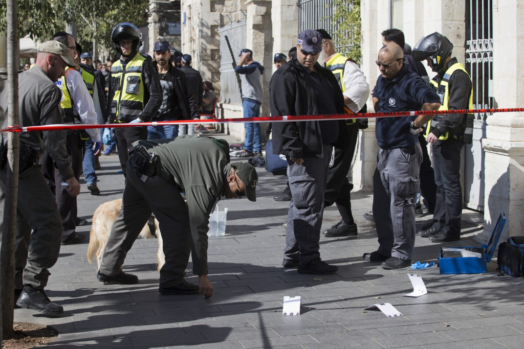 Image:  stabbing attack in  Jerusalem