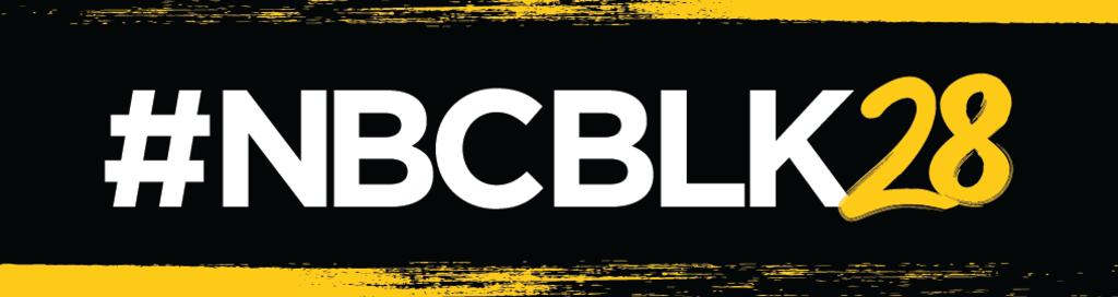 NBCBLK28 Banner Logo Hashtag