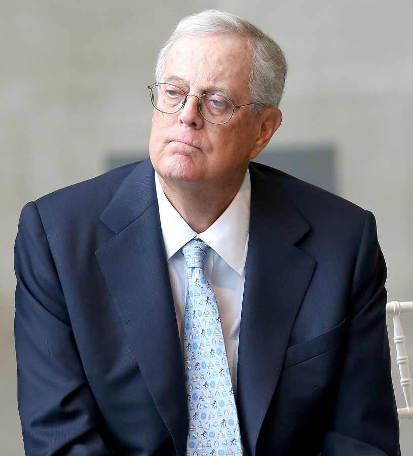 Image: A photo of David H. Koch
