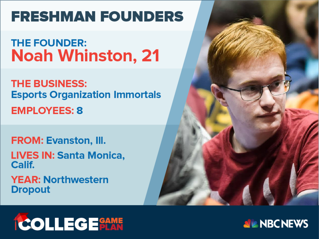 Dorm Room CEOs: Meet Noah Whinston, 21, Who Launched An E-Sports Franchise