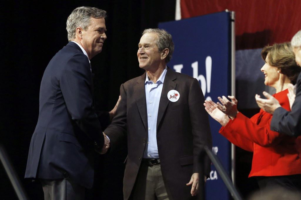 Image: Jeb Bush, George W. Bush, Laura Bush