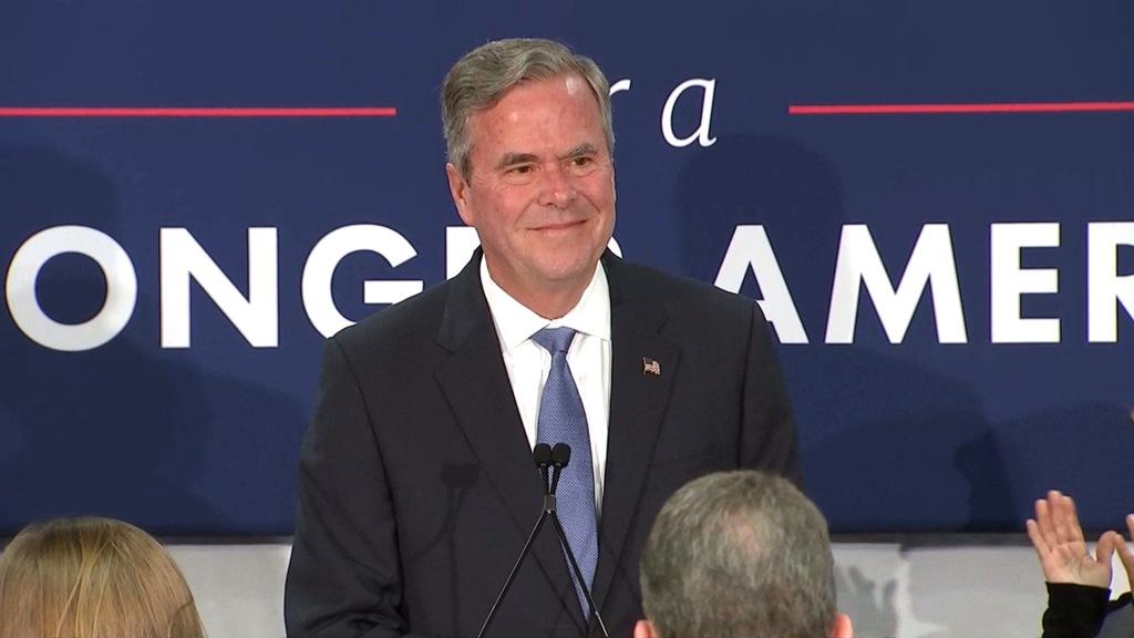 Image: Jeb Bush annouces he is suspending his campaign